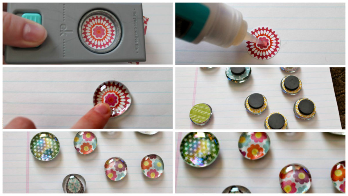 All six steps to make DIY glass pebble magnets