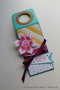 Water Bottle Tag | Stampin Fool