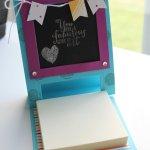 Chalkboard Easel Card tutorial on Stampinfool.com