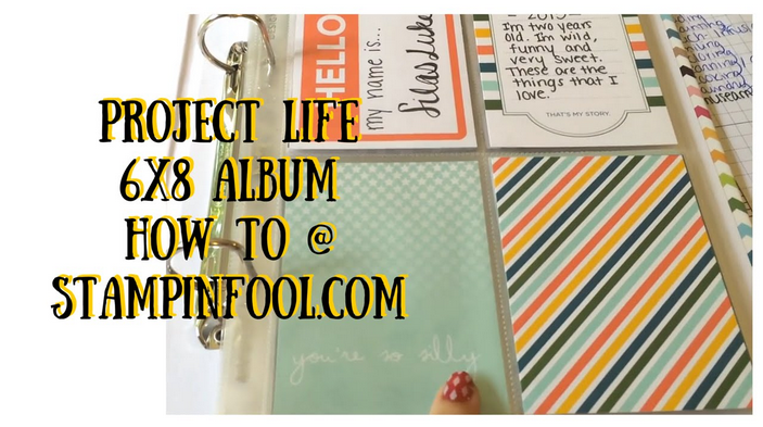 Project Life Playground Edition Mini Album Tutorial