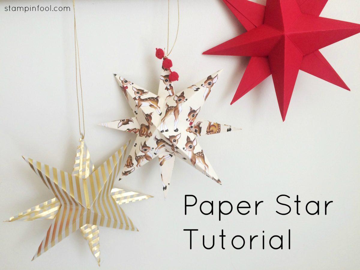 Paper Star Ornament Video Tutorial at StampinFool.com
