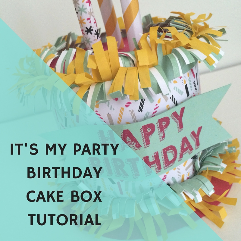 It's My Party DSP Birthday Cake Tutorial at StampinFool.com