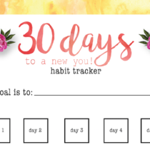 Free 30 Day Habit Tracker Printable Reach Your Goals With This Sheet