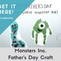 Monsters Inc Father's Day Card tutorial and instructions at StampinFool.com