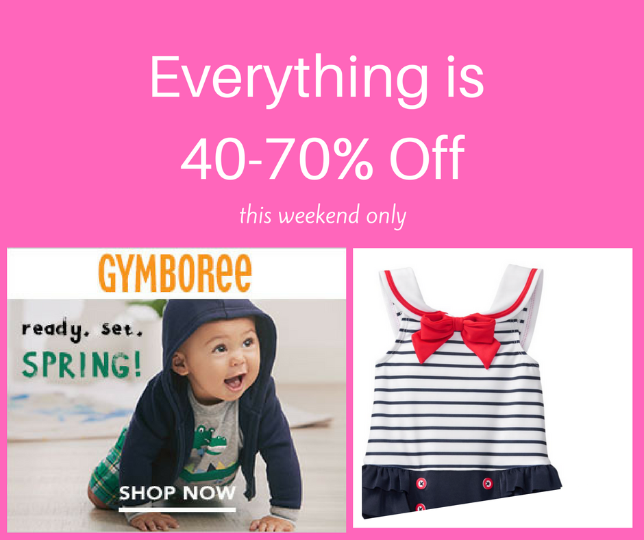https://bit.ly/2H3VIoU    Everything 40-70% Off this weekend! Adorable baby outfits on sale! #gymboree #ad #affiliate