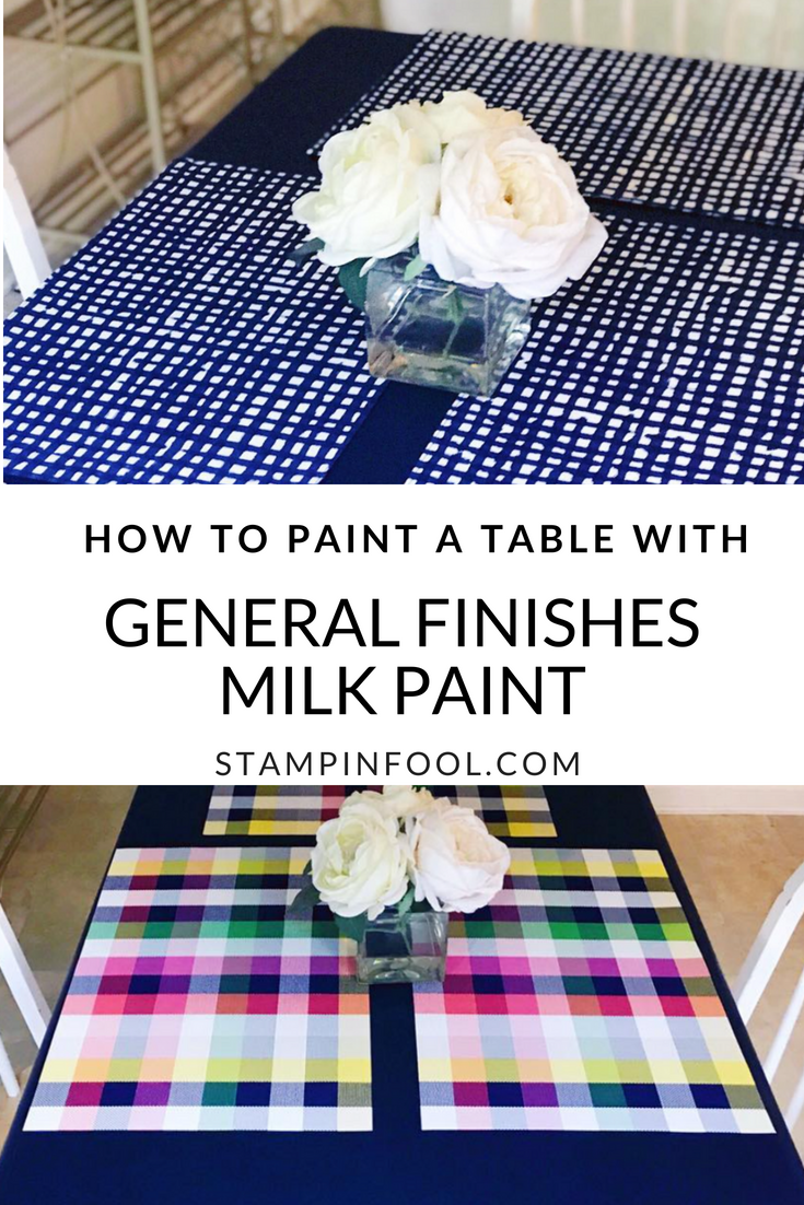DIY Kitchen Table Makeover Using General Finishes Milk Paint in Navy Plus a list of mistakes to avoid when painting furniture