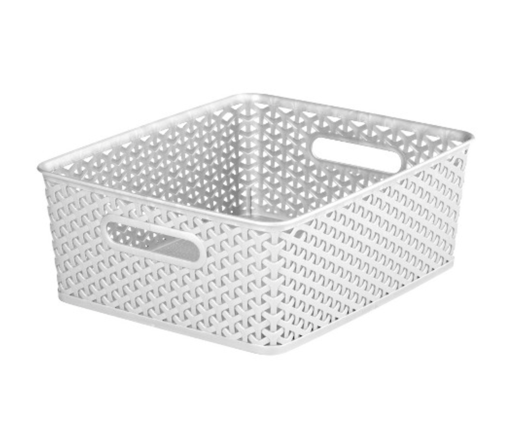 Organize your Pantry in 2020 with these white baskets from Target which are great for food storage from StampinFool.com