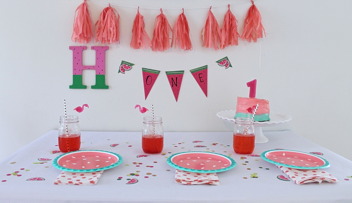 How to Throw a Watermelon Birthday Party from StampinFool.com