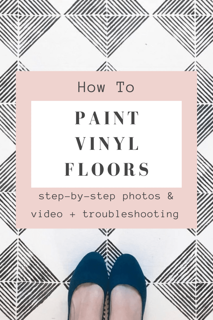 How To Paint Vinyl Floors Step by Step + Photos & Video