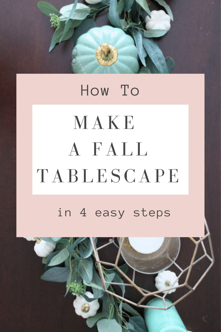 How to make a fall tablescape in 5 minutes from StampinFool.com
