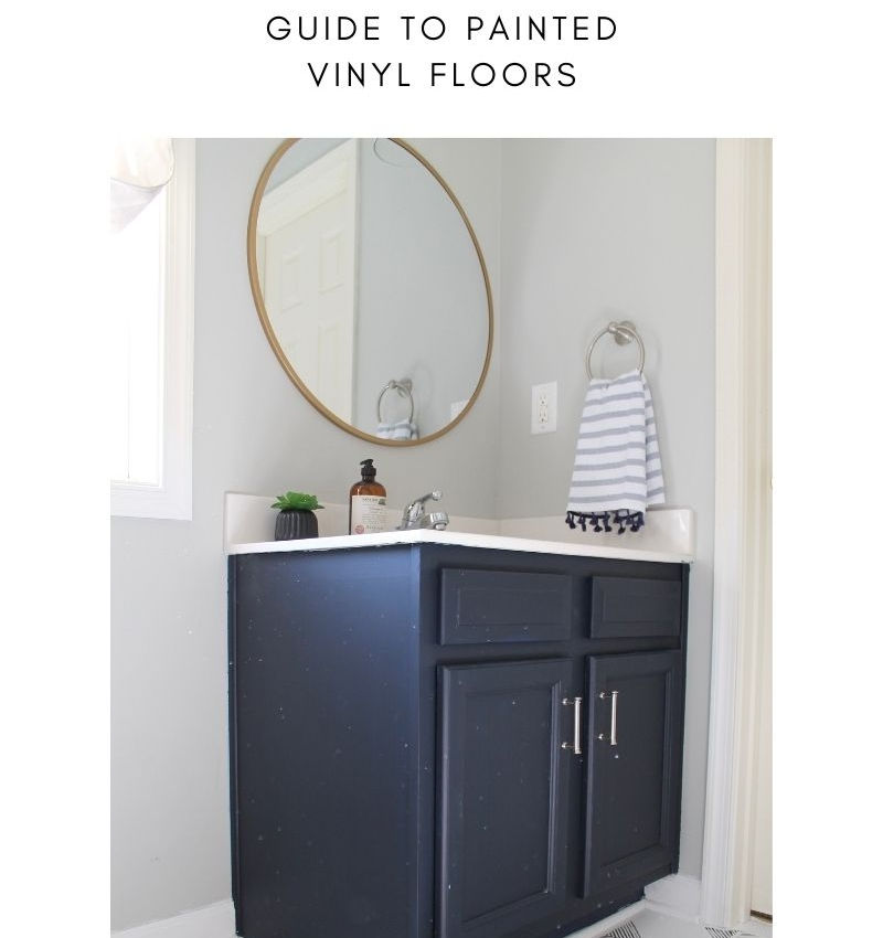 The Ultimate Guide on How-to DIY paint vinyl floors with step by step instructions, photos & videos will help you update your old builder grade flooring.