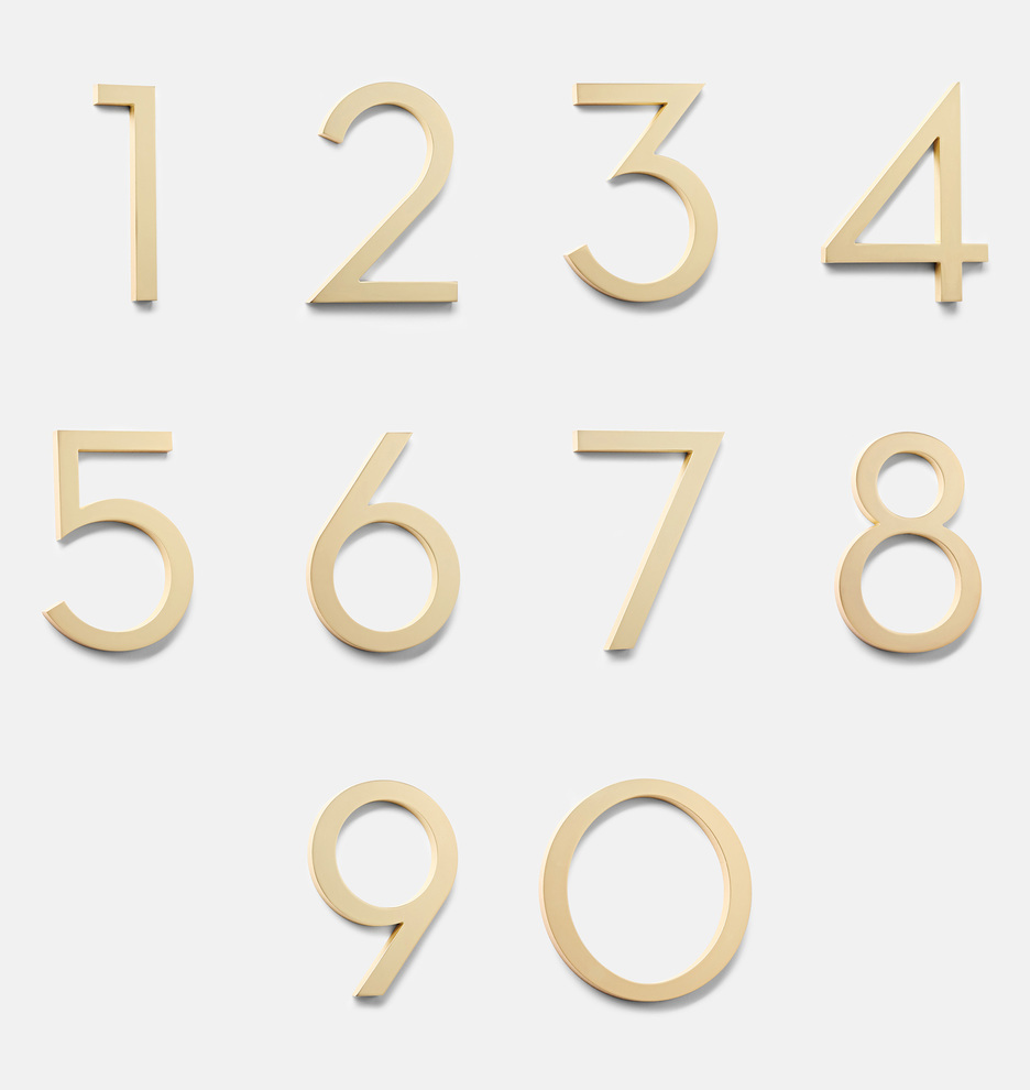 Rejuvination modern gold address numbers
