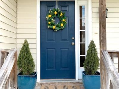 Sherwin Williams Naval Front Door