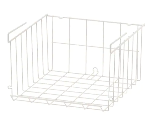 IKEA clip on wire basket for pantry storage