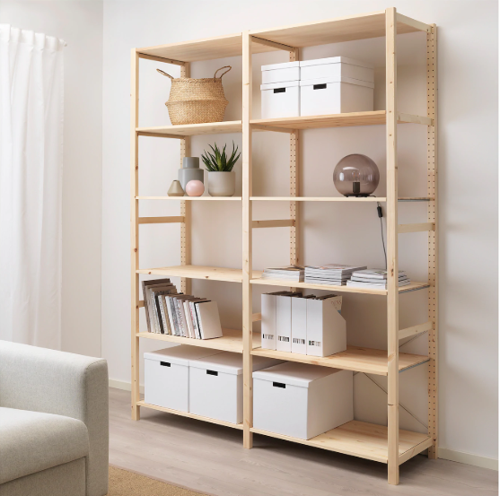 IKEA shelving unit for pantry