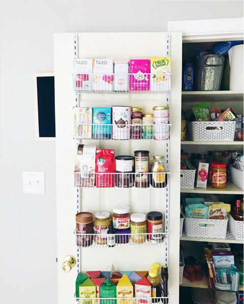 Pantry organization tips including how to sort by type and color