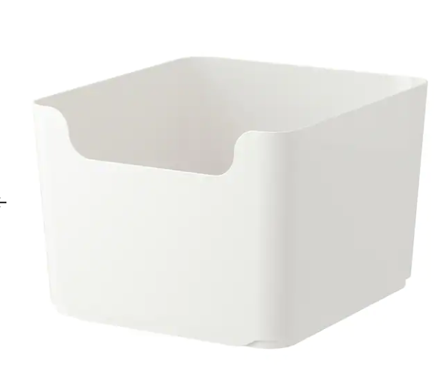 IKEA white bin for storage in pantry