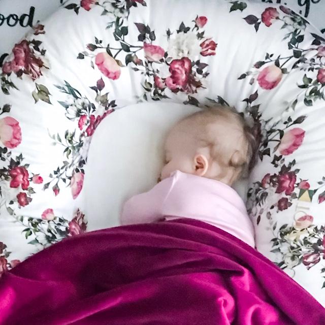 DockATot Grand Vie en La Rose with baby sleeping
