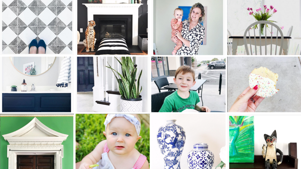 Instagram feed from StampinFool.com DIY & Interior photos from her home in Williamsburg VA