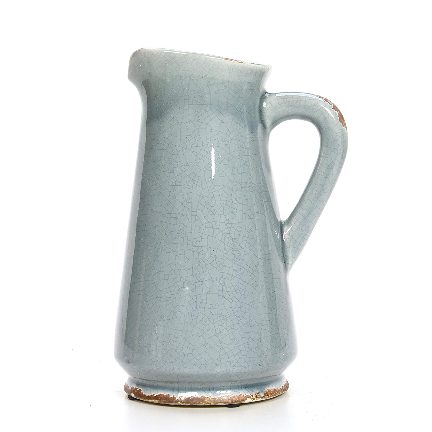 blue vase with handle