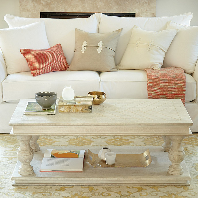 andrews wood coffee table from ballard designs