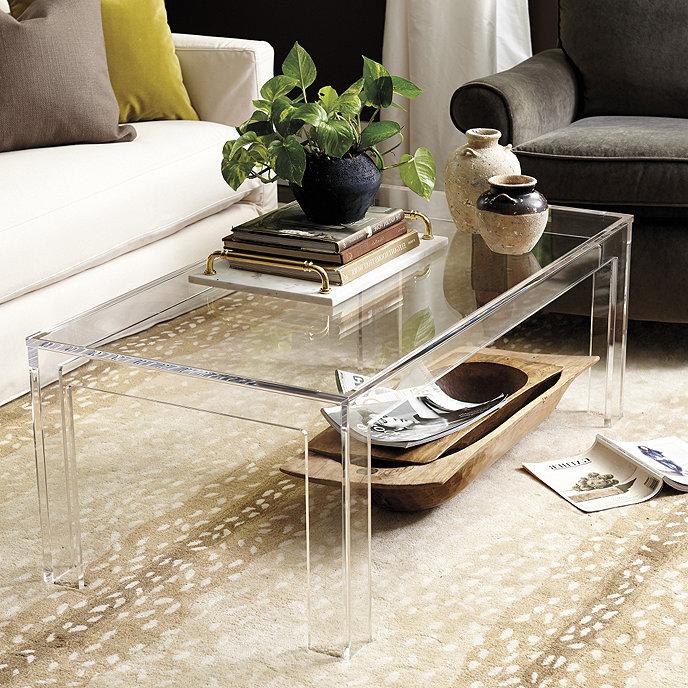 clear acrylic coffee table from ballard designs
