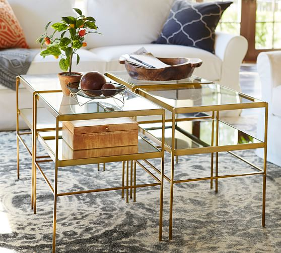 leona gold end table from pottery barn