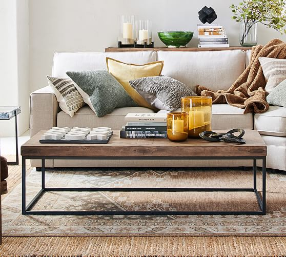 Malcolm coffee table from pottery barn