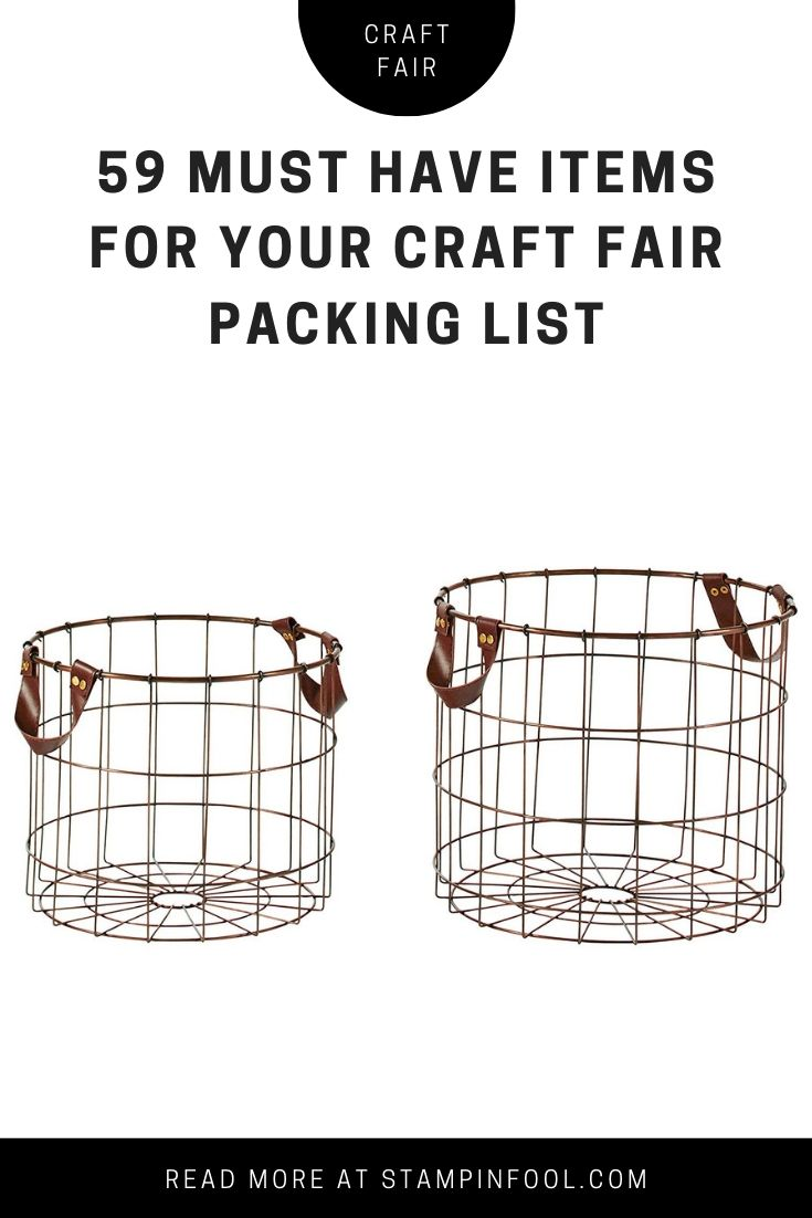 wire baskets for displaying craft items