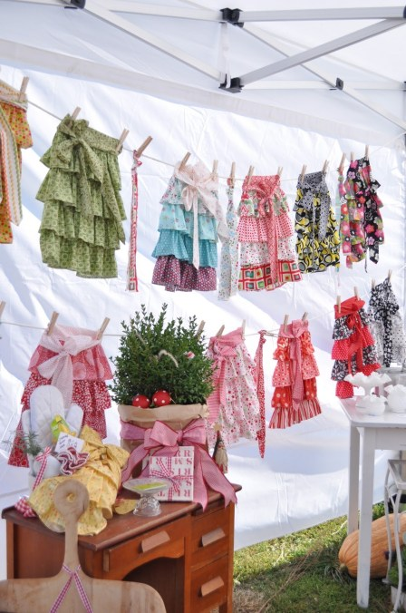 colorful skirts hanging on a clothesline