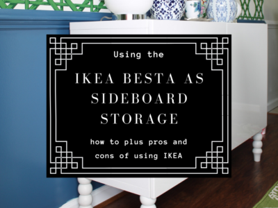 Ikea Besta as Dining Room storage