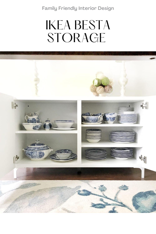 IKEA Besta Storage in a Dining Room Makeover: BESTA is the BEST