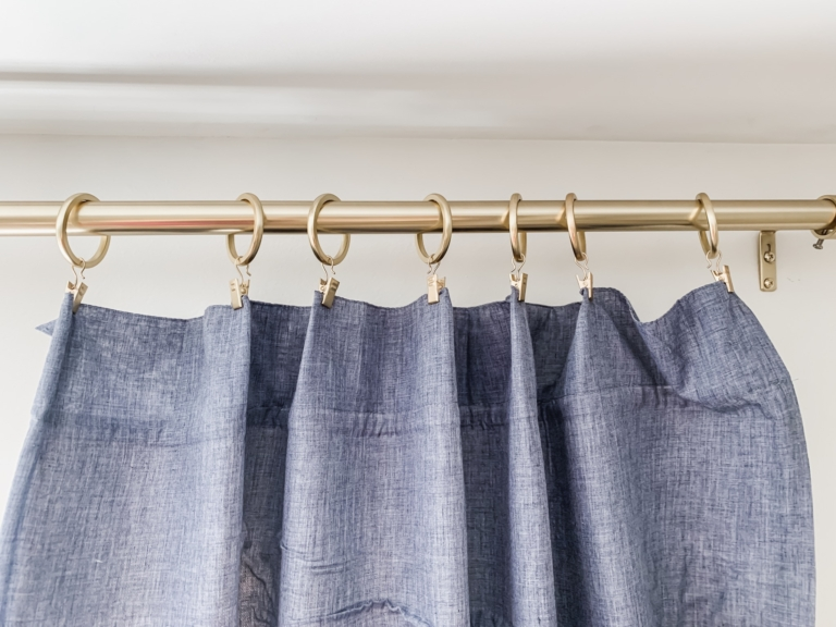drop cloth lined curtains