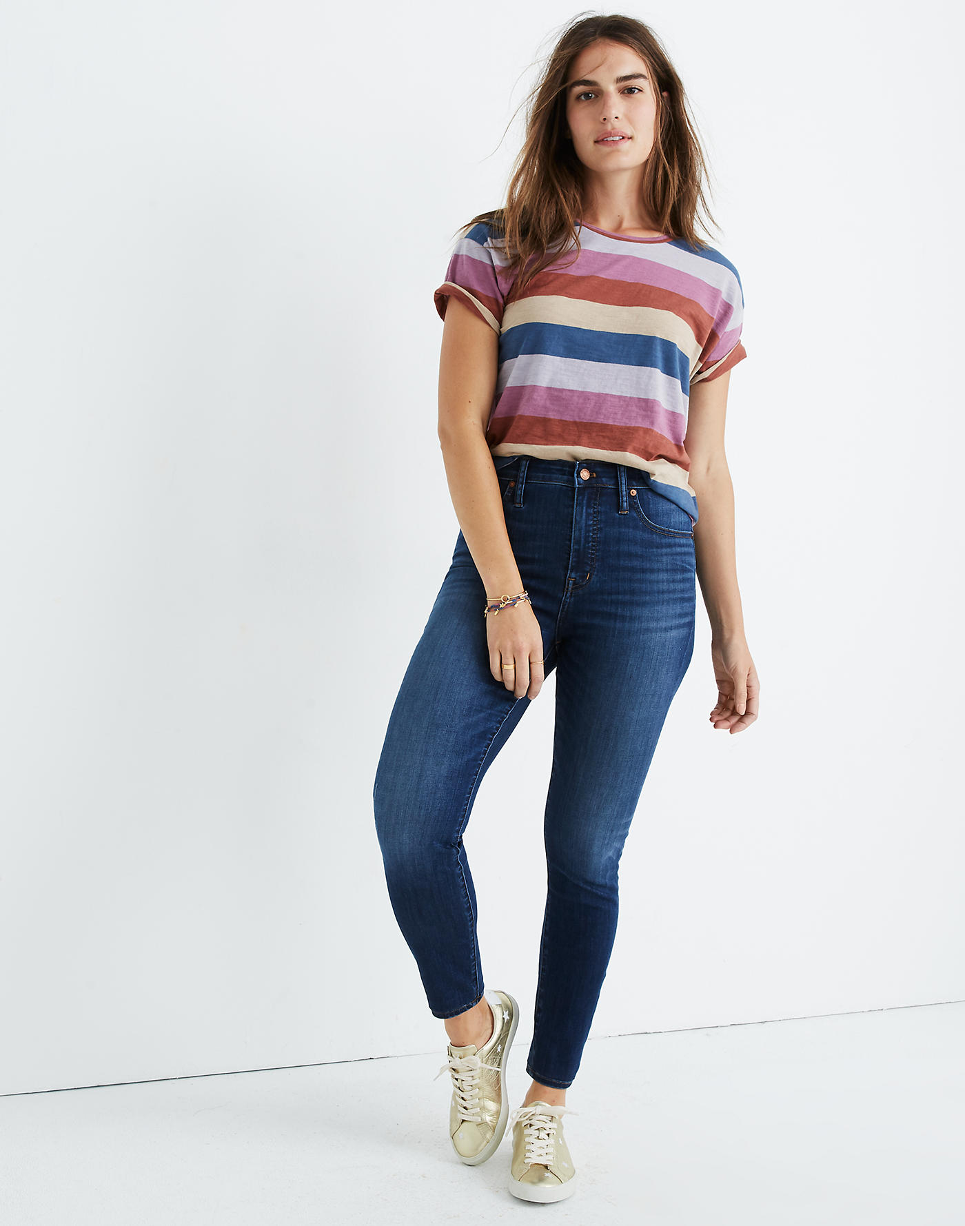Madewell Curvy High-Rise Skinny Jeans in Danny Wash