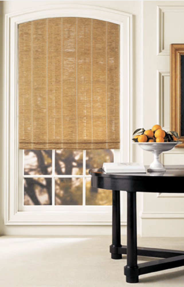 types of window treatments include woven wooden blinds