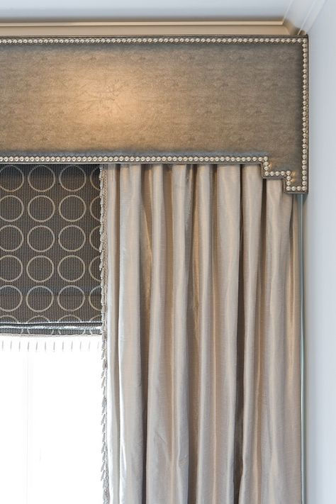 This wooden cornice is a type of window treatment