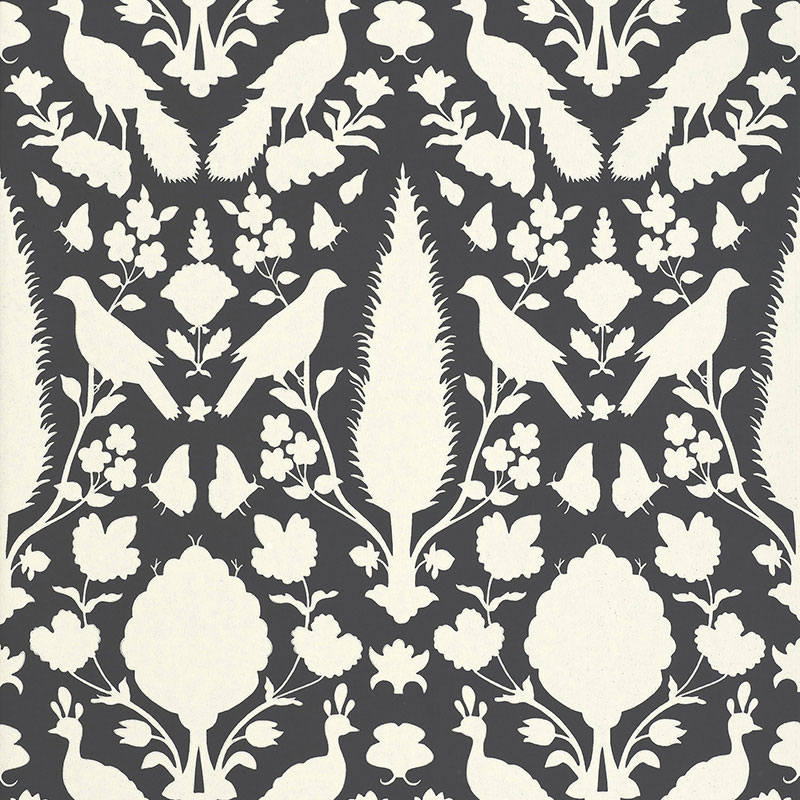 Dark gray schumacher CHENONCEAU Wallpaper 2020