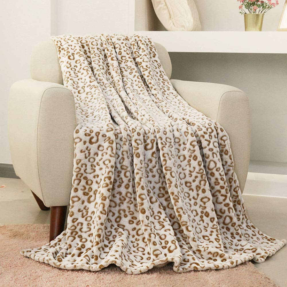 2020 Mother's Day Gift Guide: Leopard Print Throw Blanket