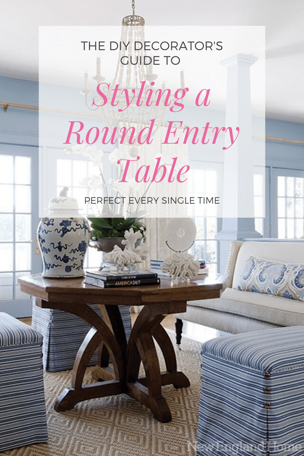 The DIY Decorator's Guide to Styling the Perfect Round Entry Table Every Single Time from StampinFool.com