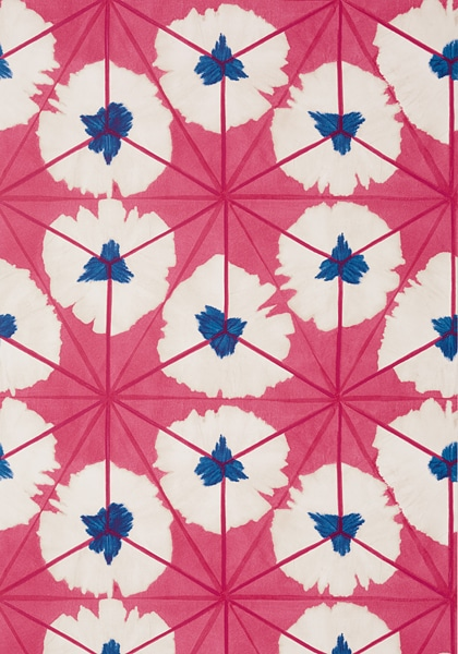 Thibaut pink Sunburst Wallpaper in Best of 2020 Roundup