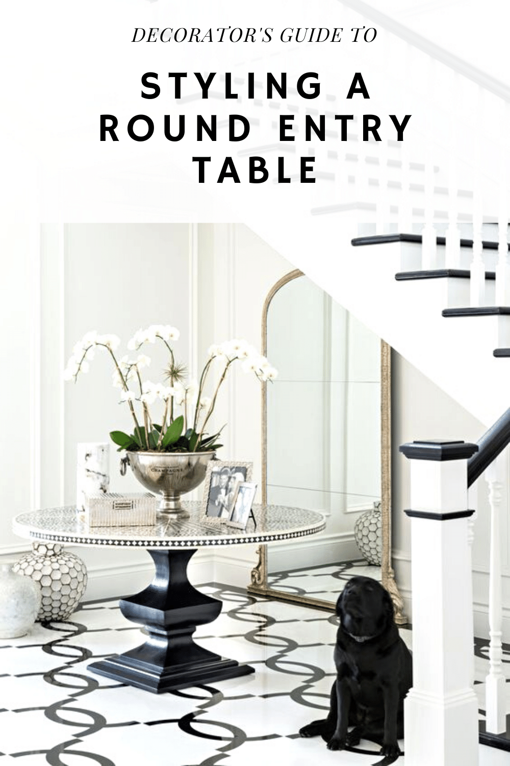 HOW TO STYLE A ROUND ENTRYWAY TABLE