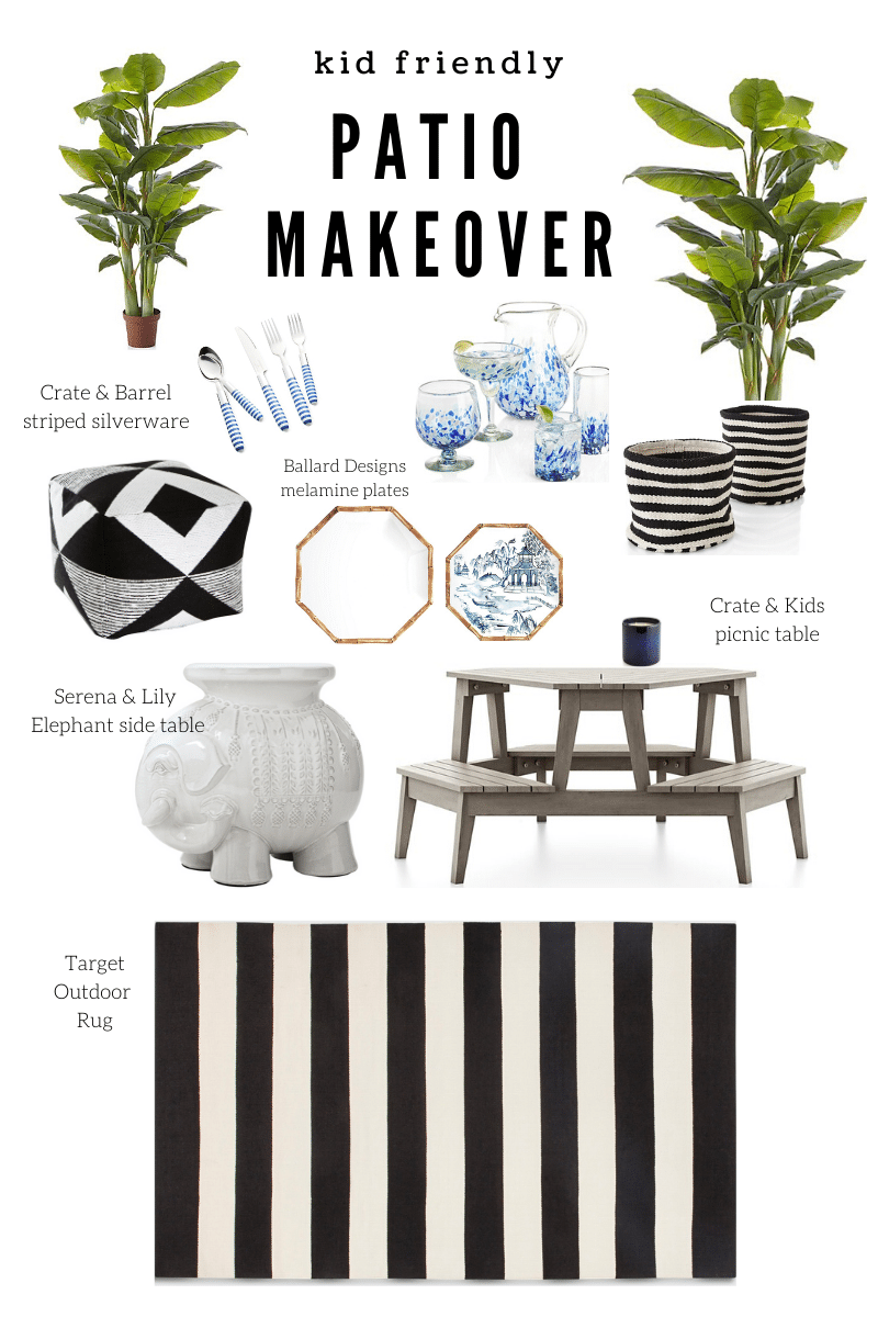 Kid Friendly Patio Makeover Inspiration