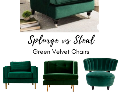 Splurge or Steal: Green Accent Chairs
