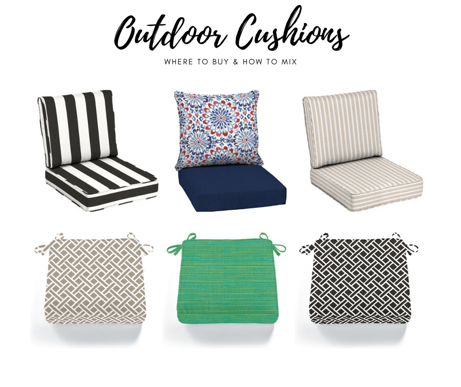 TYPES OF OUTDOOR CUSHIONS