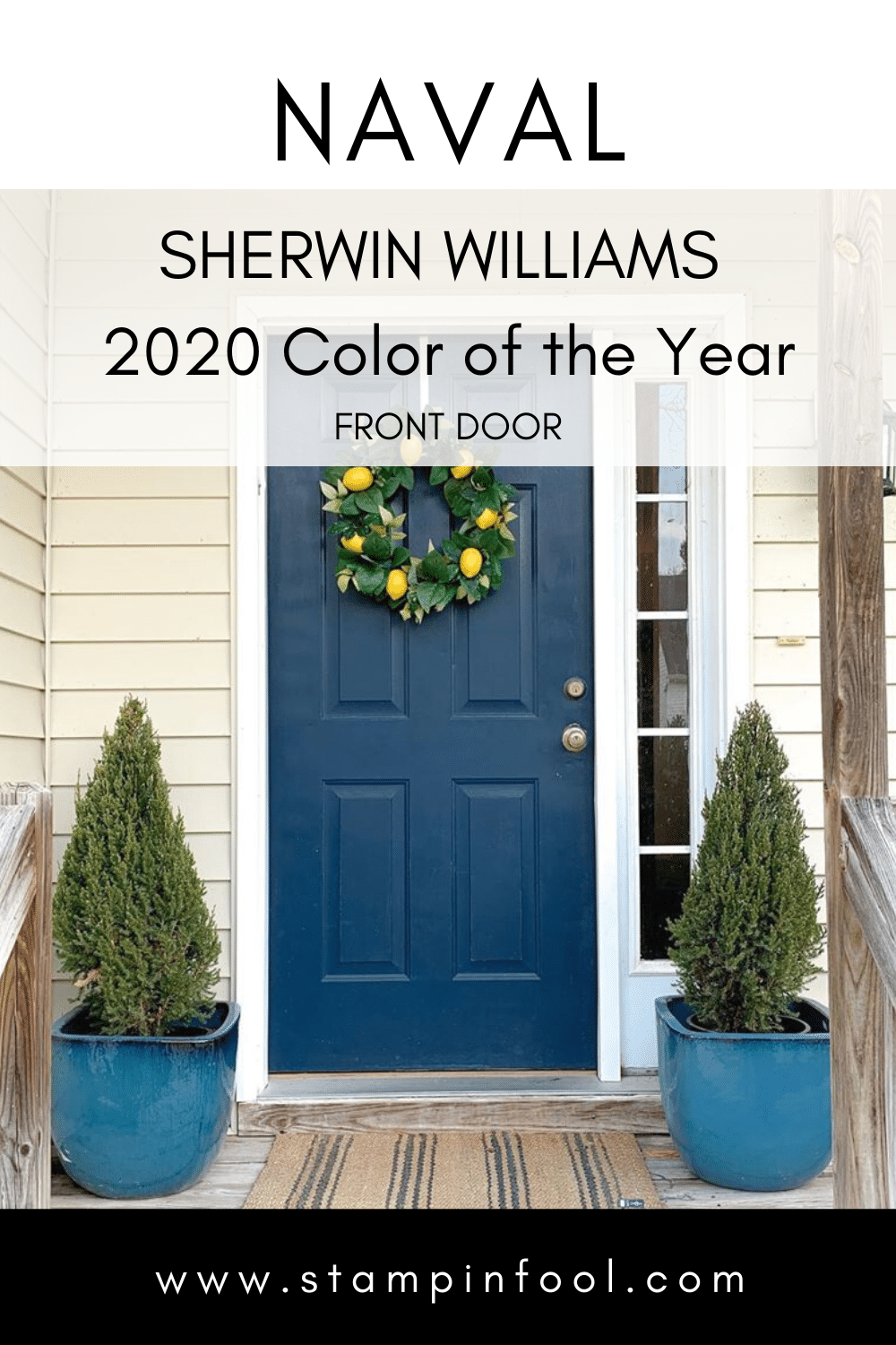 Sherwin Williams Naval Front Door