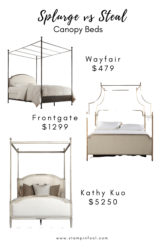 Splurge vs Steal: Canopy Beds