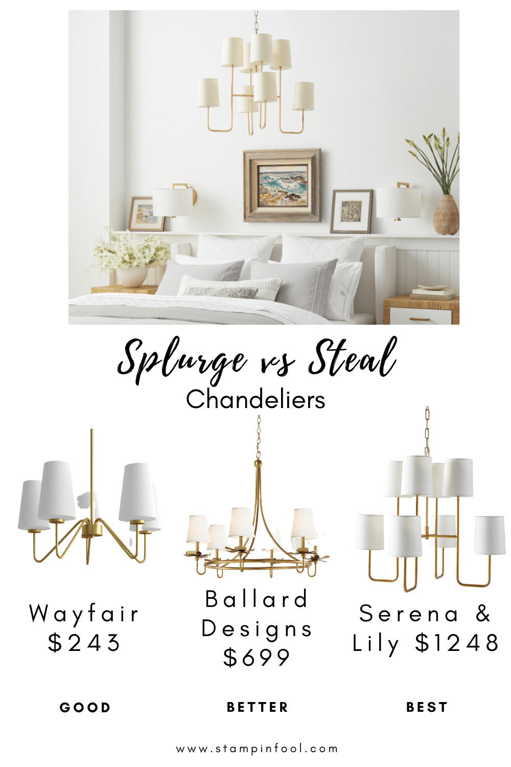 Splurge vs Steal Chandeliers - Interior Decorating Tips