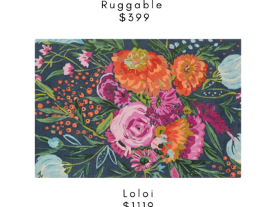 Splurge vs Steal on Floral Rugs