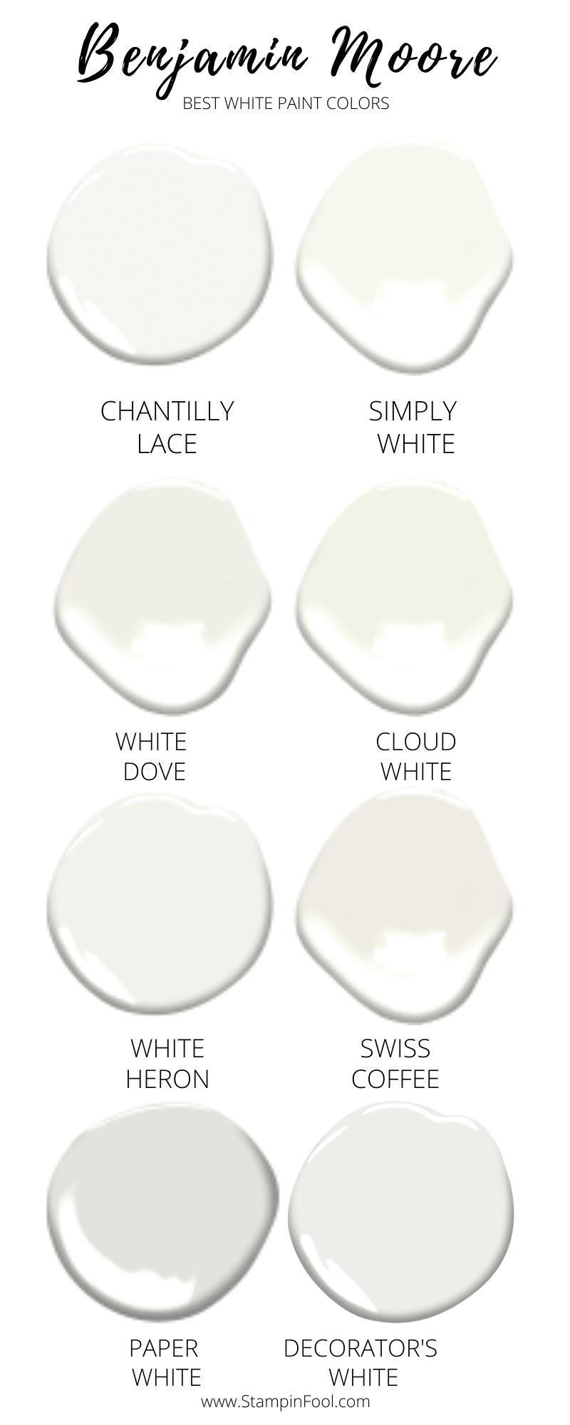 BM Best White Paint Colors of 2020