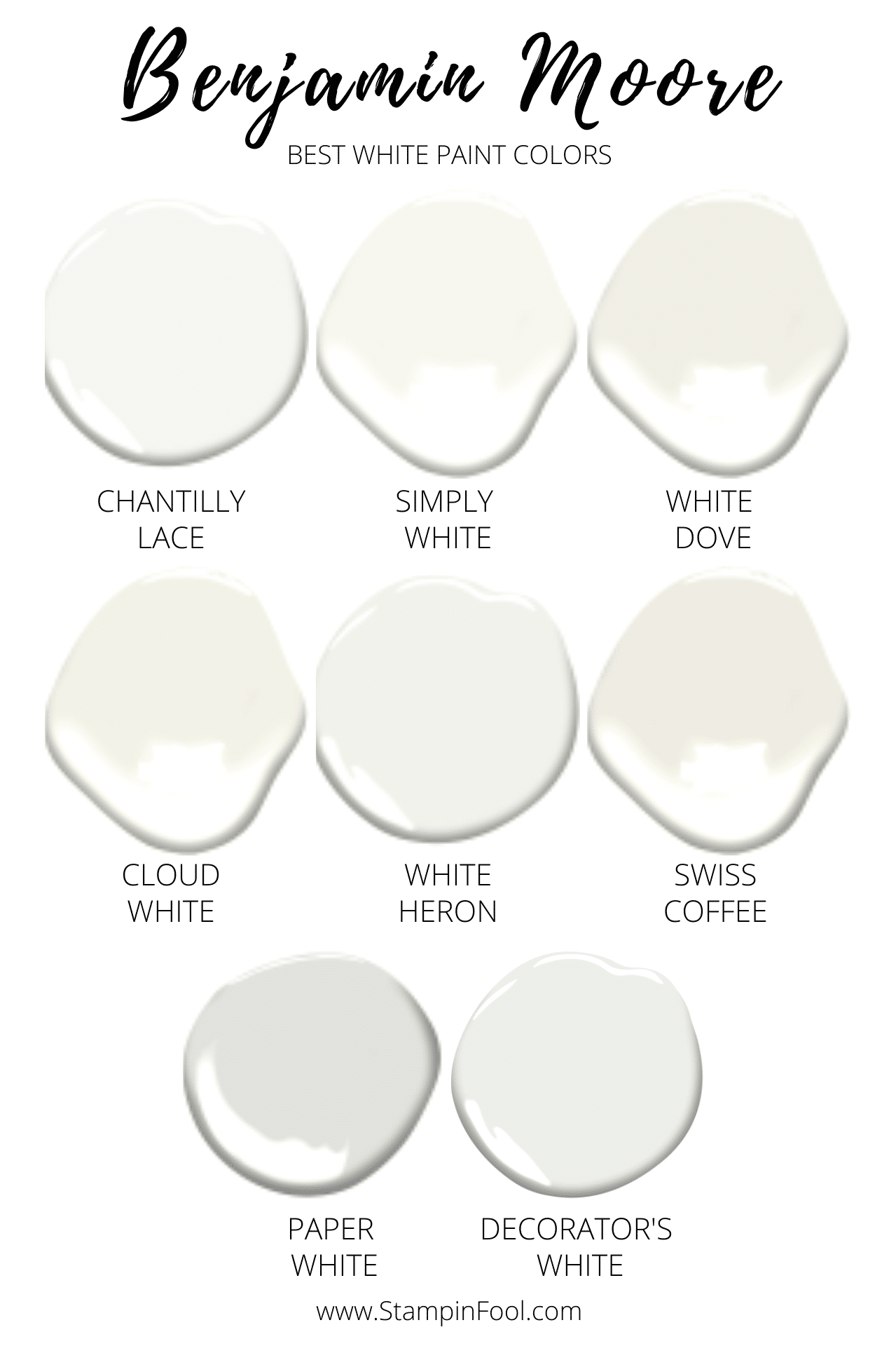 The Best 8 Benjamin Moore White Paint Colors In 2020